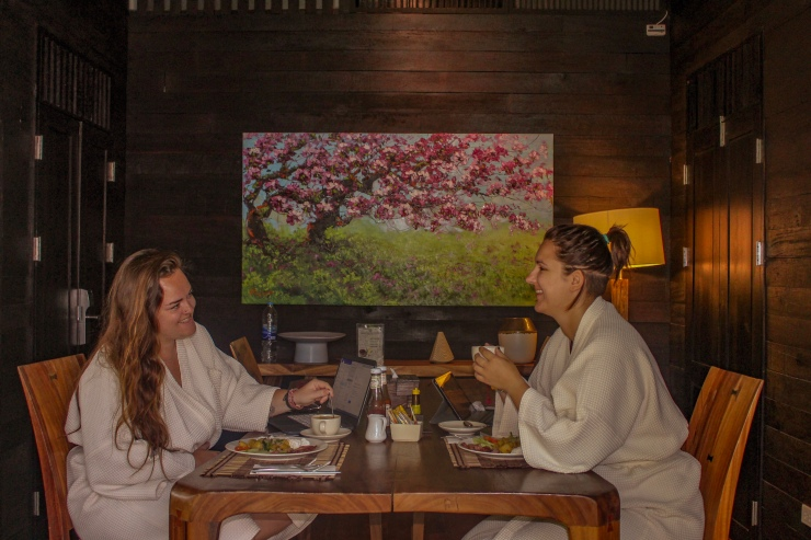 Baan Saen Fang Hotel - Breakfast in our villa