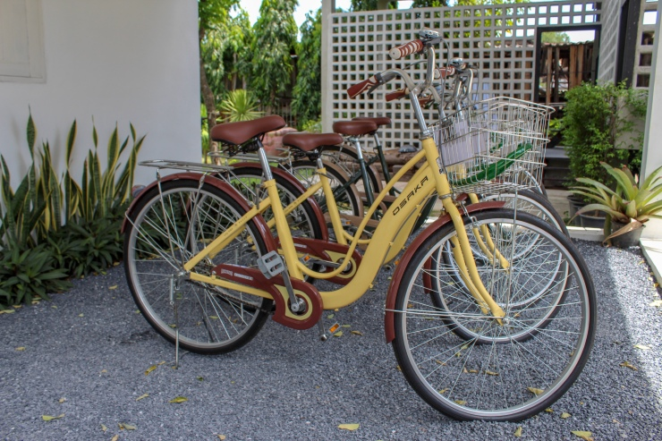 Krodyle Mindfulness House offers free bicycles to explore the city of Ayutthaya with!