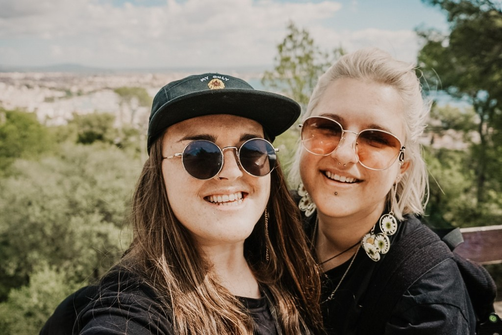 Steff & Ells from We Are Wandering Travel in Palma, Mallorca